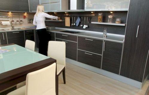 Modern Black Kitchen Cabinets Design