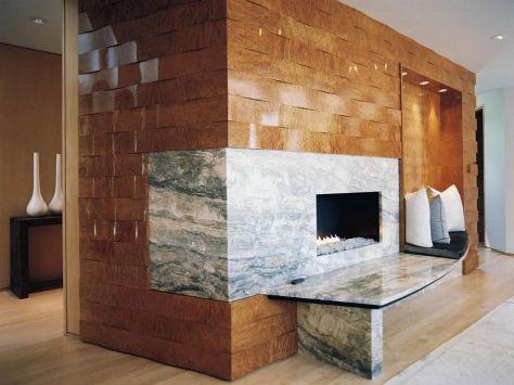 Modern Wood Fireplace Surround Wall