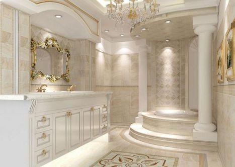 Neoclassical Luxury Bathroom Design