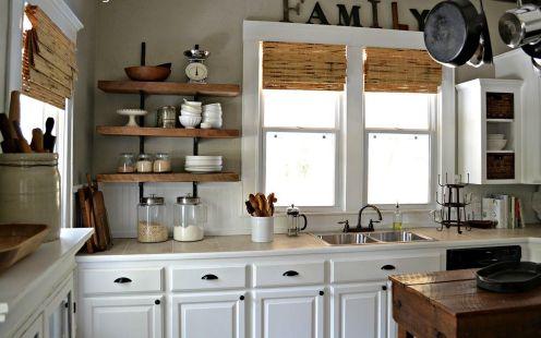 Reclaimed Wood Kitchen Shelves