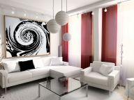 Red White Living Room