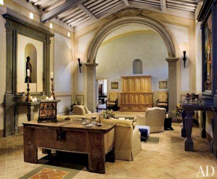Rustic Italian Living Room Design