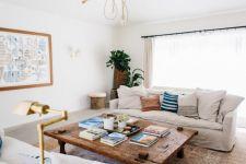 Shabby Chic Apartment Living Room 23
