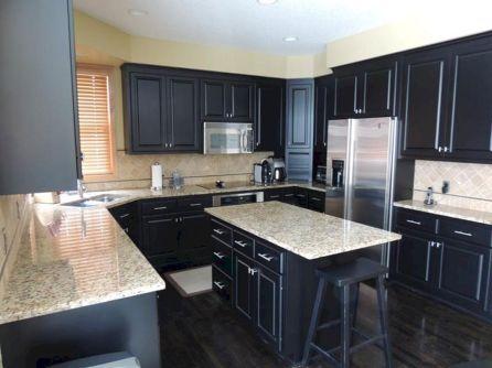 White Kitchen Cabinets With Dark Countertops