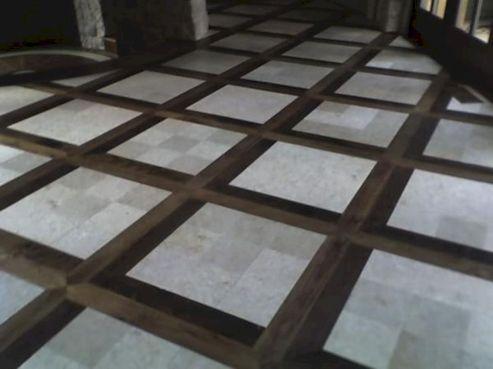 Wood Floor With Tile Border