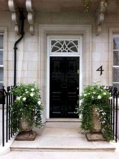 Black Front Door Entry
