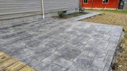 DIY Stamped Concrete Patio