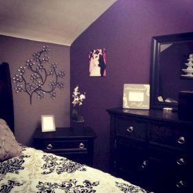 Grey Purple Bedroom