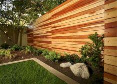 Horizontal Wood Fence Ideas For Back Yard