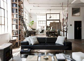 Industrial Loft Living Room Design