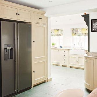 Kitchen Design With Cabinet Around Fridge