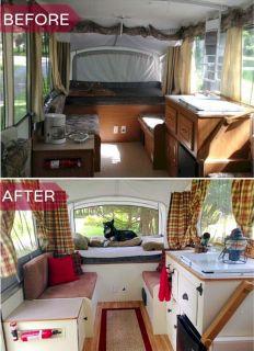 Pop Up Camper Makeover Before And After