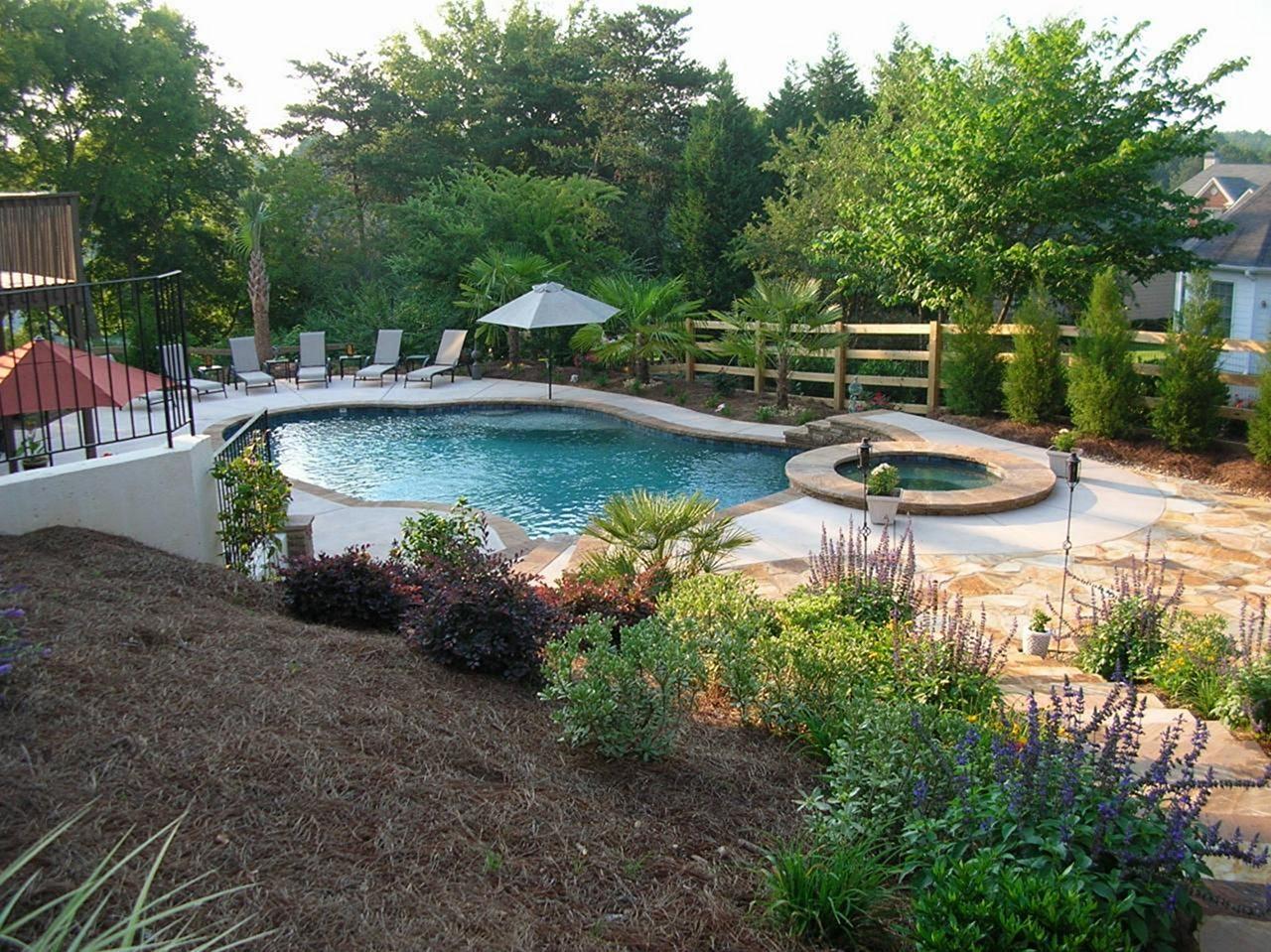 Big Backyard Pool Landscaping Ideas (Big Backyard Pool ... on Backyard Pool And Landscaping Ideas id=49682