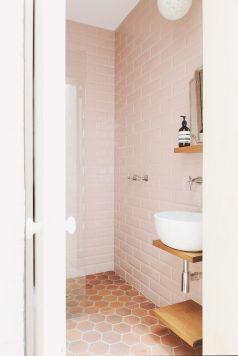 Blush Pink Bathroom Tiles