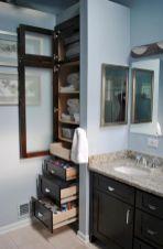 Built In Linen Closet With Bathroom