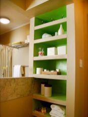Built In Shelves Bathroom Idea