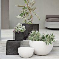 Contemporary White Outdoor Planter