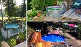 DIY Galvanized Stock Tank Pool