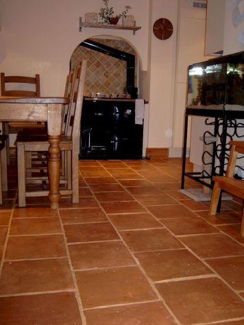 Kitchen With Terracotta Floor Tiles