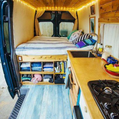 Living In A Camper Van Interior