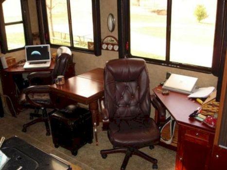 RV Living Room Office Ideas