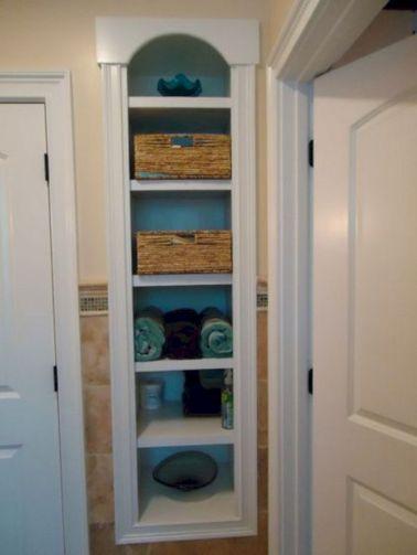 Recessed Storage Between Studs Wall Shelf For Bathroom