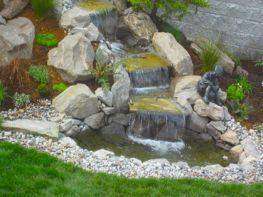 Simple Backyard Ponds With Waterfall Ideas