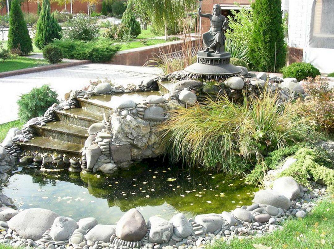 Small Garden Pond Waterfall Ideas (Small Garden Pond ... on Small Backyard Pond With Waterfall id=87538