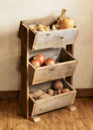 Wood Potato Storage Vegetable Bin