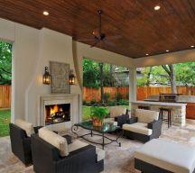 Backyard Living Space Design Ideas 24