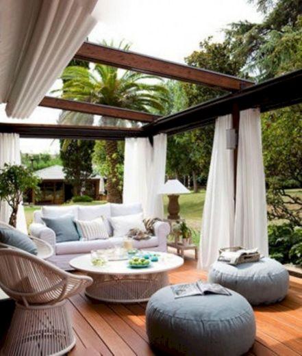 Backyard Living Space Design Ideas 27