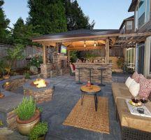 Backyard Living Space Design Ideas 34
