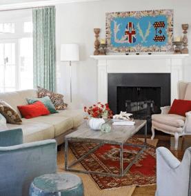 Living Room Rug Layering 12