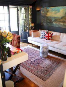 Living Room Rug Layering 122