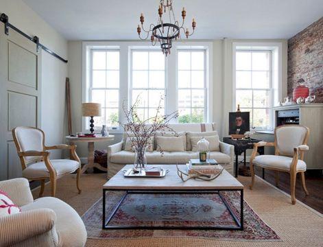Living Room Rug Layering 125