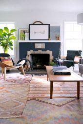 Living Room Rug Layering 16