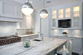 Contemporary White Kitchen Backsplash 11