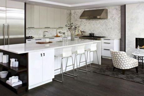 Contemporary White Kitchen Backsplash 119