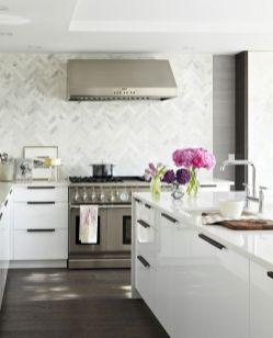 Contemporary White Kitchen Backsplash 13