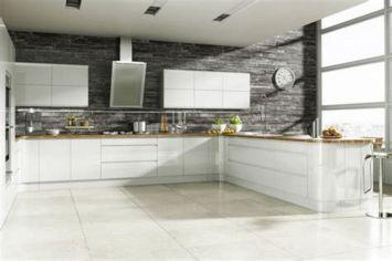 Contemporary White Kitchen Backsplash 15