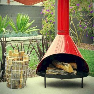 Mid Century Modern Outdoor Fireplace 1