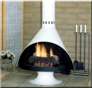 Mid Century Modern Outdoor Fireplace 12