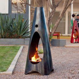 Mid Century Modern Outdoor Fireplace 15