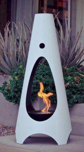Mid Century Modern Outdoor Fireplace 16