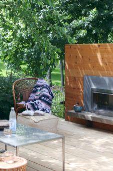 Mid Century Modern Outdoor Fireplace 20