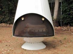 Mid Century Modern Outdoor Fireplace 24