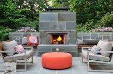 Mid Century Modern Outdoor Fireplace 28