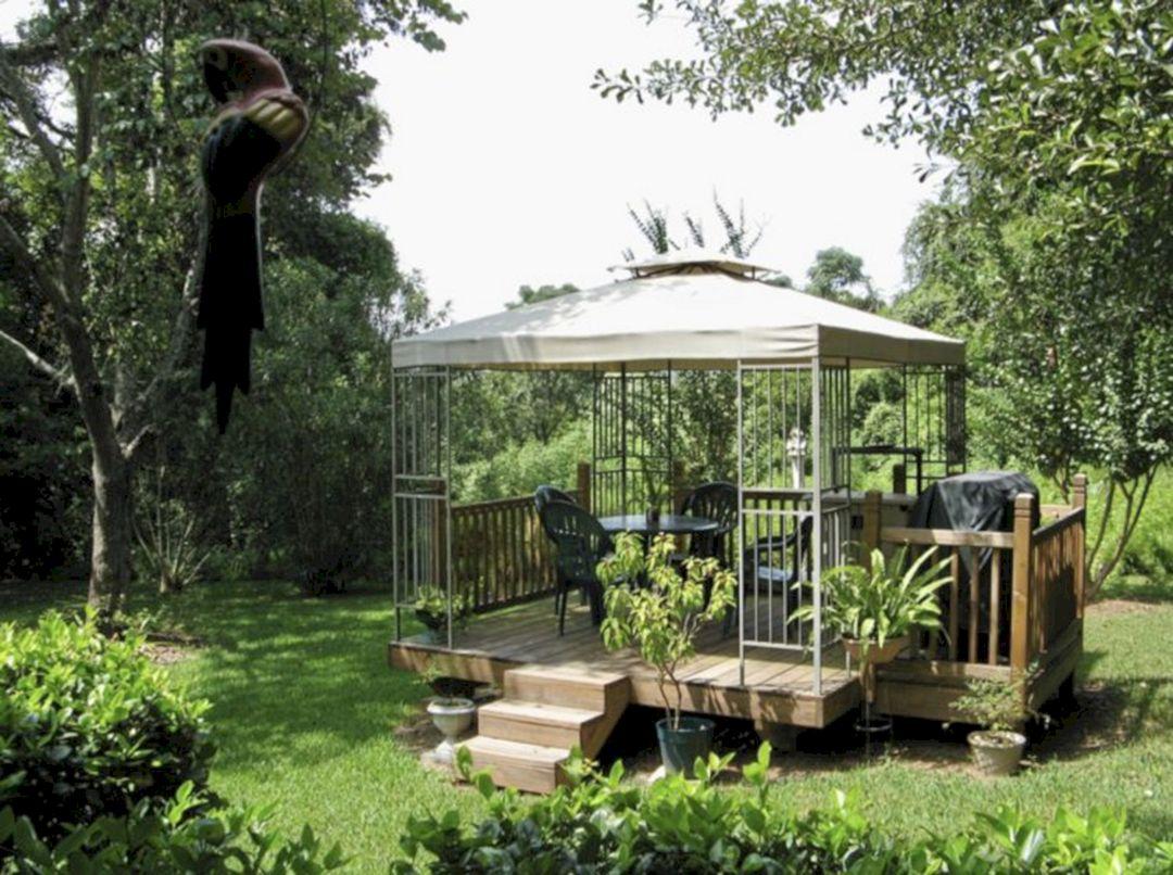 Backyard Flower Garden With Gazebo 11