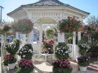 Backyard Flower Garden With Gazebo 22