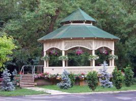 Backyard Flower Garden With Gazebo 6